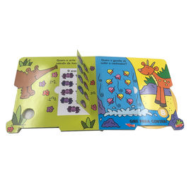 Matte Lift The Flap Board Book With Die Cut Shape / Small Board Books For Toddlers