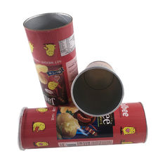 Canning Fish Telescopic Food Grade Tube Packaging / Paper Cylinder Packaging