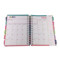 Hardcover Spiral Planners Printing Custom Journal Notebooks With Tabs