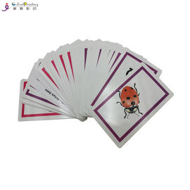 Glossy Finishing Card Printing Services Toddler Playing Cards Custom Shape