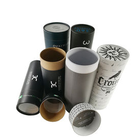 EVA Insert Custom Printed Paper Tubes For Clothes / Cylinder Cardboard Box