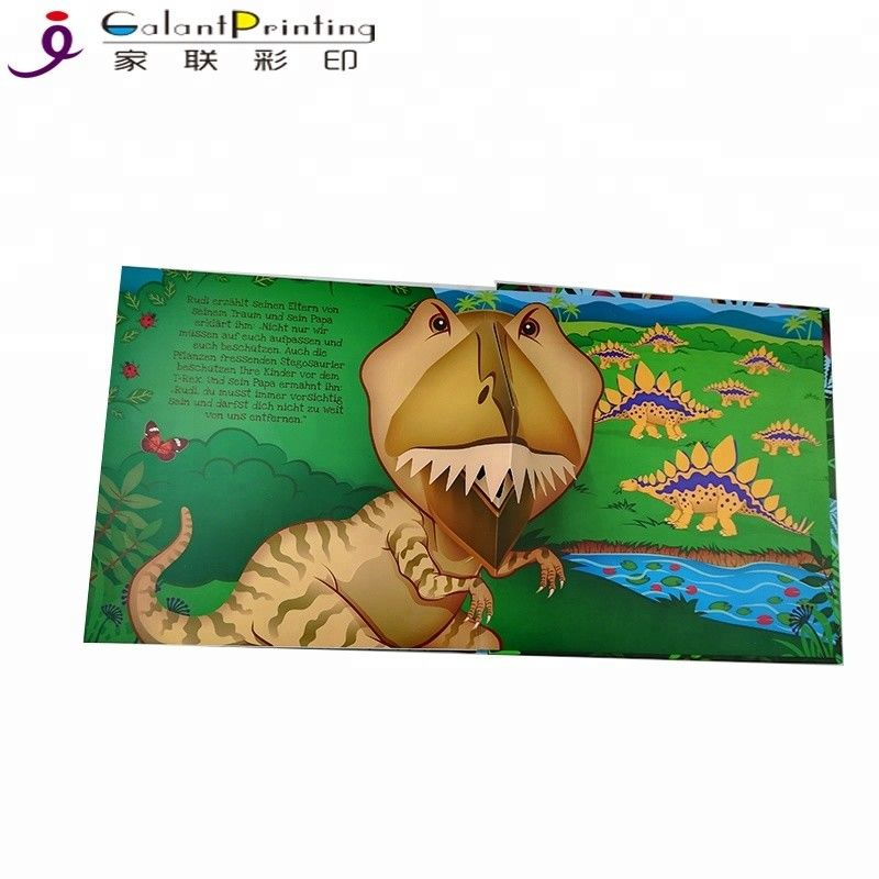 Custom Dinosaur Animal  Children'S Pop Up Story Books For 1 Year Olds