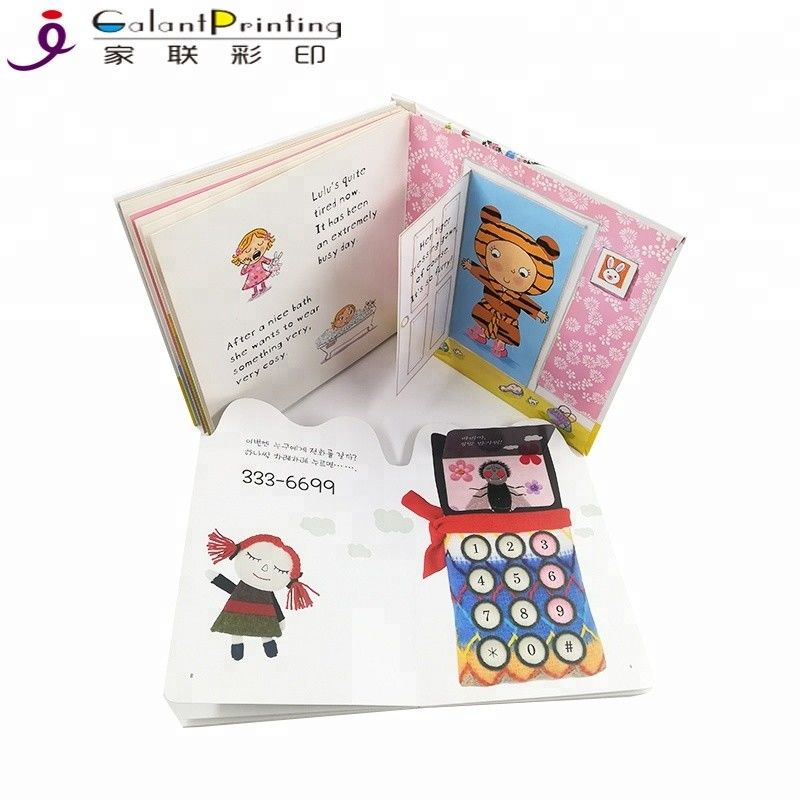 Custom Die - Cutting Children'S Board Book Printing Film Lamination For Education