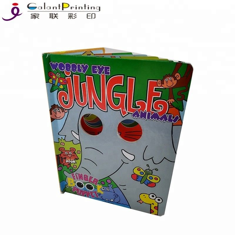 A4 A5 A3 Paper Printing Services Kids Board Books Glue / Sewing Binding