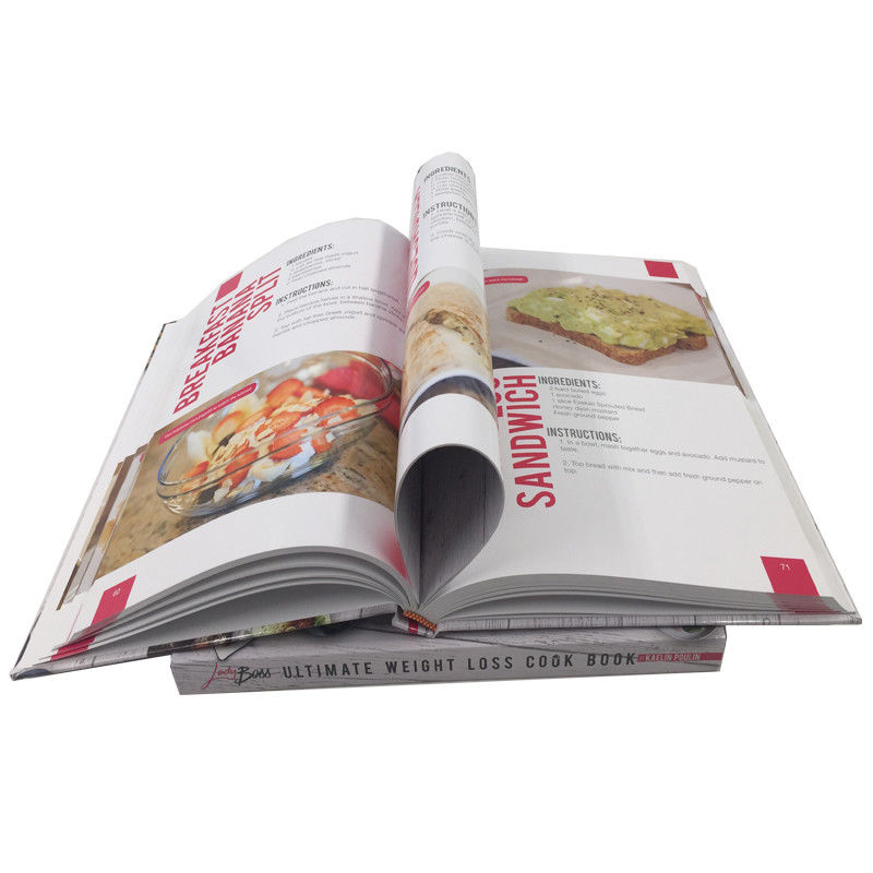 Paperback Hardcover Cookbook Custom Menu Printing Film Lamination