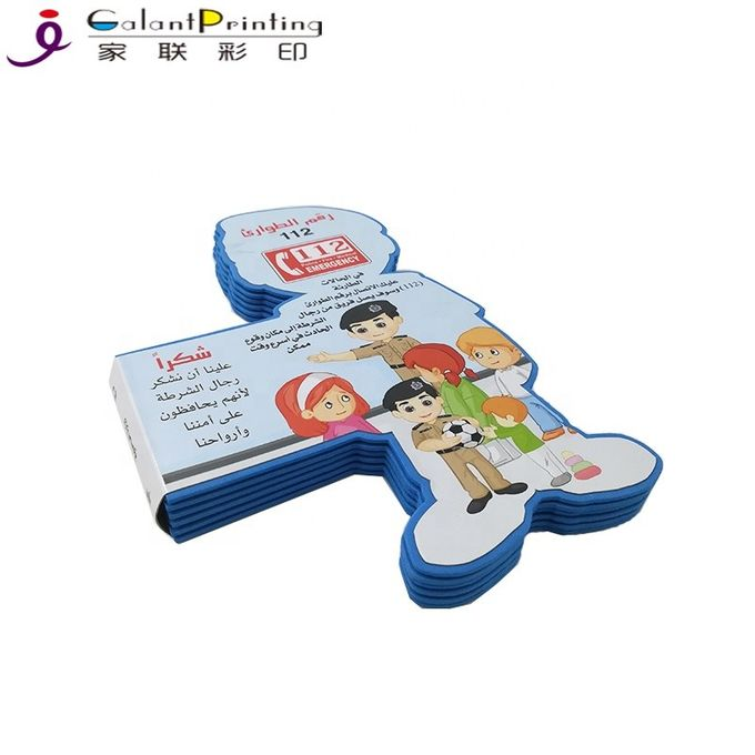 First Reading Cartoon Children'S Board Book Printing / Die Cutting Printing Services