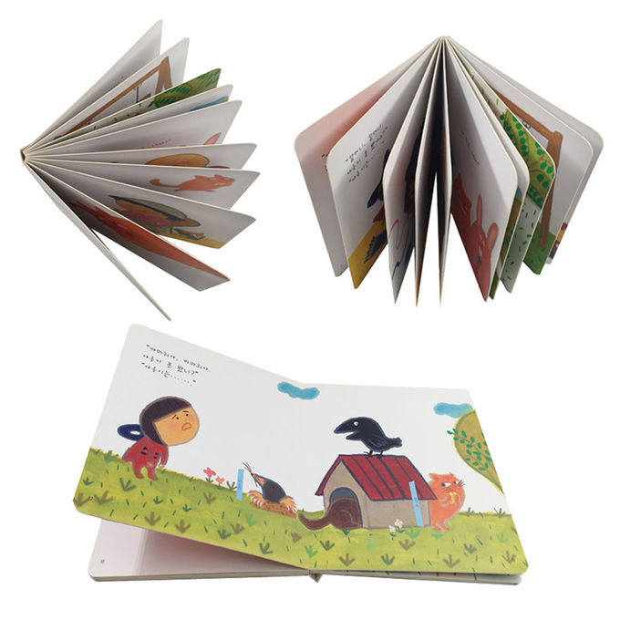 Colorful Hardcover Printing And Binding  English Animal Cartoon Story Book For Children